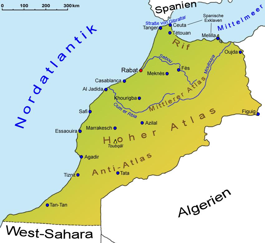 Marokko Geografie Und Landkarte Lander Marokko Goruma