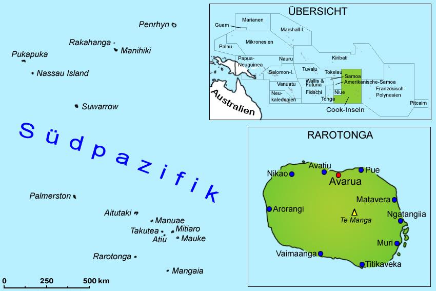 Karte Australien Und Umgebung.Cookinseln Landkarte Geografie Länder Cook Inseln Goruma