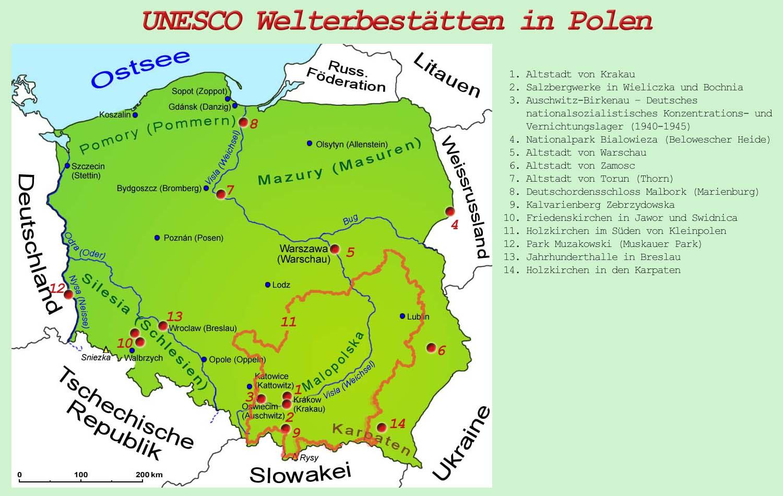 Polen Unesco Welterbestatten Lander Polen Goruma