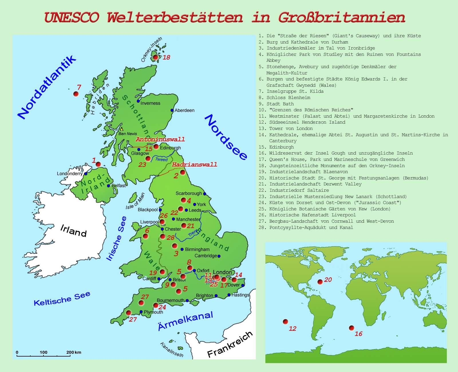 Sehenswürdigkeiten Großbritannien Karte.Großbritannien Sehenswürdigkeiten Länder Großbritannien Goruma