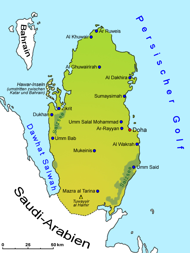 Katar Landkarte Geografie Lander Katar Goruma