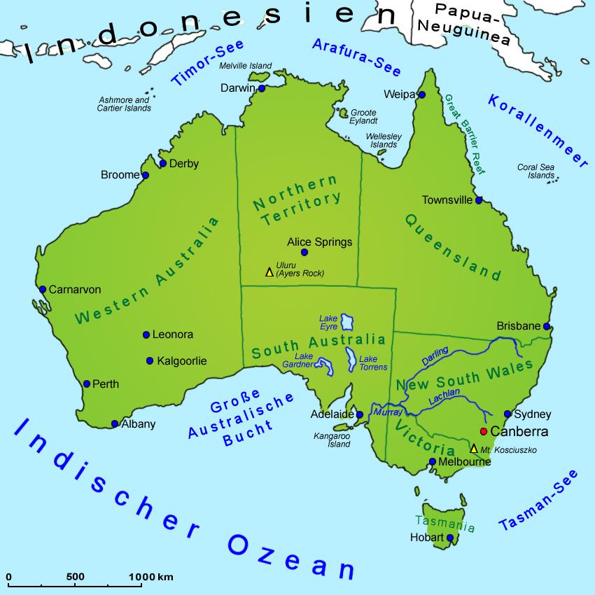 Australien Brisbane Uhrzeit