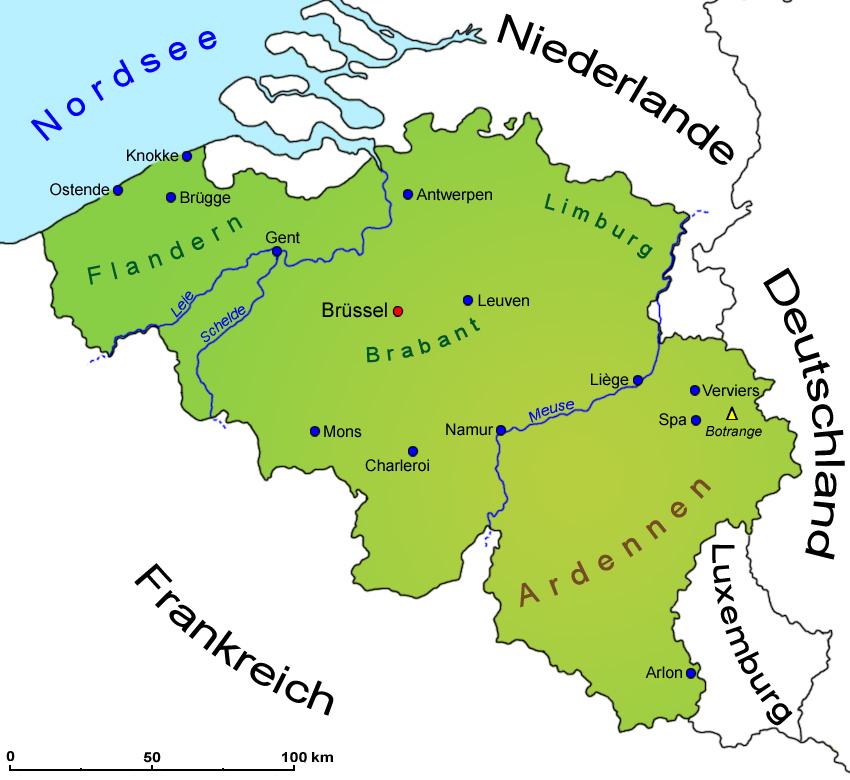 landkarte belgien deutschland Belgien: Geografie, Landkarte | Länder | Belgien | Goruma