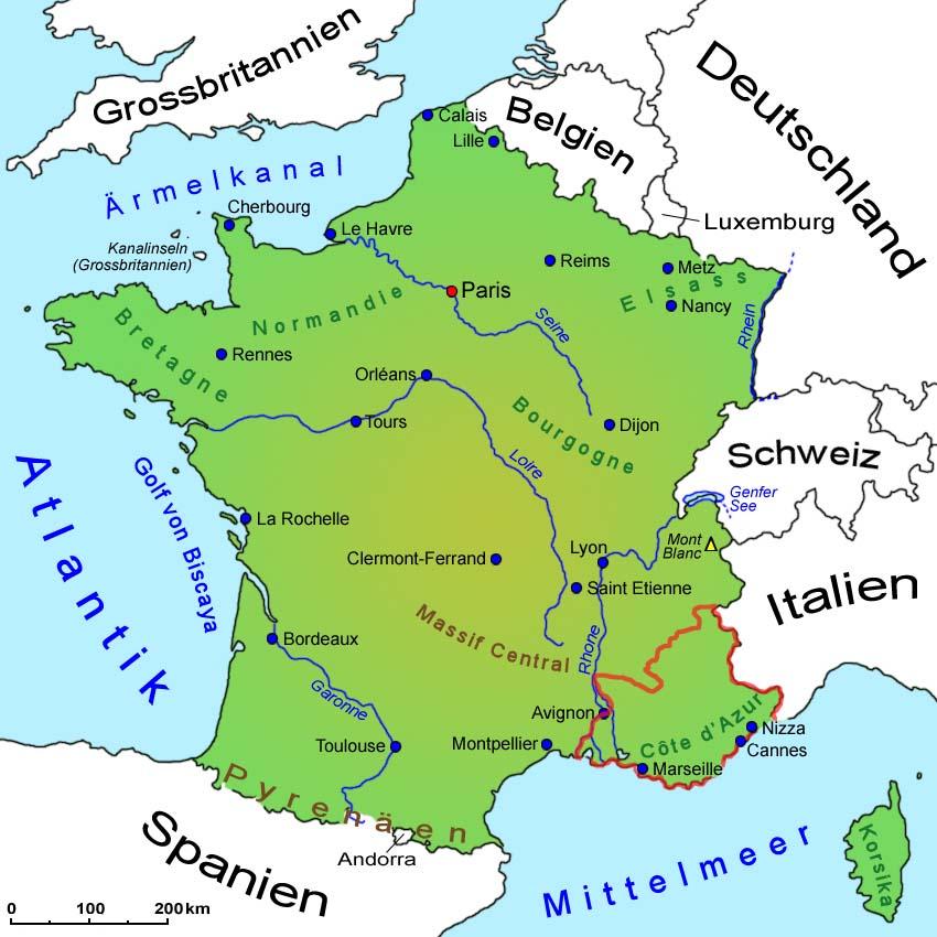 Regionen Frankreich Karte.Frankreich Provence Alpes Côte D Azur Länder Sehenswürdigkeiten