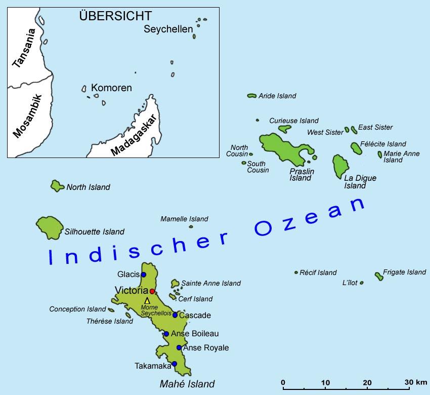 Seychellen Karte Afrika.Seychellen Geografie Und Landkarte Länder Seychellen Goruma