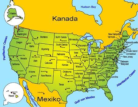 Washington Dc Karte.Washington Bundesstaat Länder Sehenswürdigkeiten Goruma