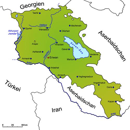 Armenien Geografie Ubersichtskarte Lander Armenien Goruma