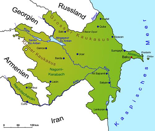 Aserbaidschan Geografie Landkarte Lander Aserbaidschan Goruma