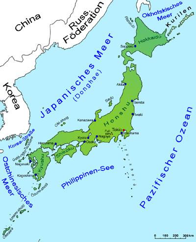 Japan Karte.Japan Landkarte Länder Japan Goruma