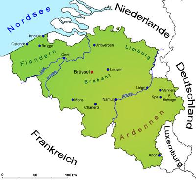 Stumme Karte Deutschland Flüsse.Belgien Geografie Landkarte Länder Belgien Goruma