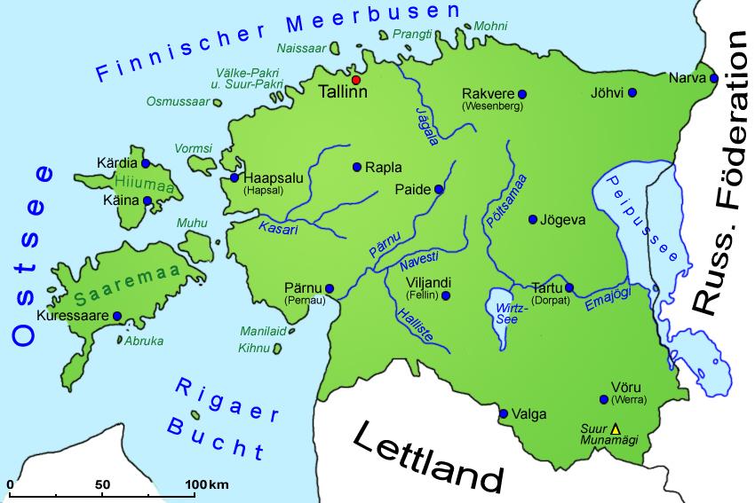 estland karte Estland: Landkarte | Länder | Estland | Goruma