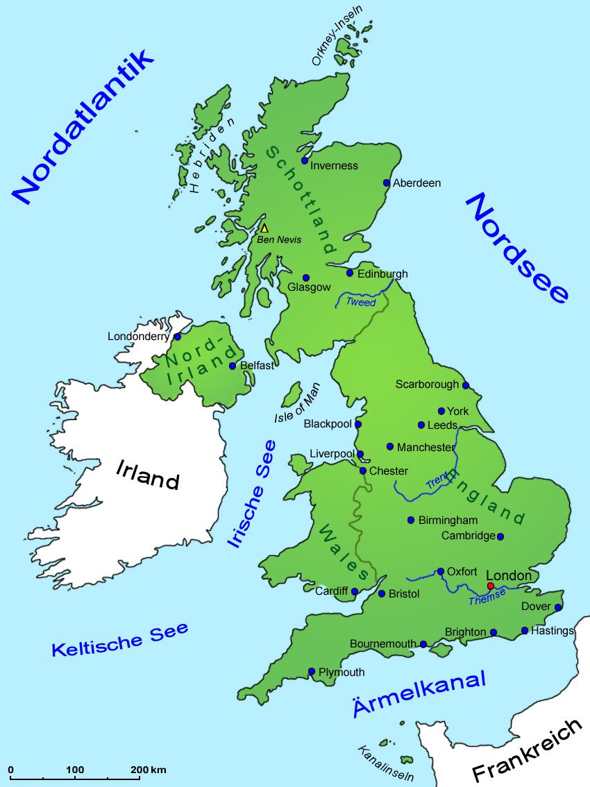 Großbritannien Karte Umriss.Großbritannien Geografie Und Landkarte Länder Großbritannien