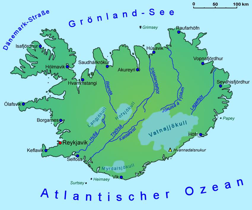 island landkarte Island: Landkarte | Länder | Island | Goruma island landkarte