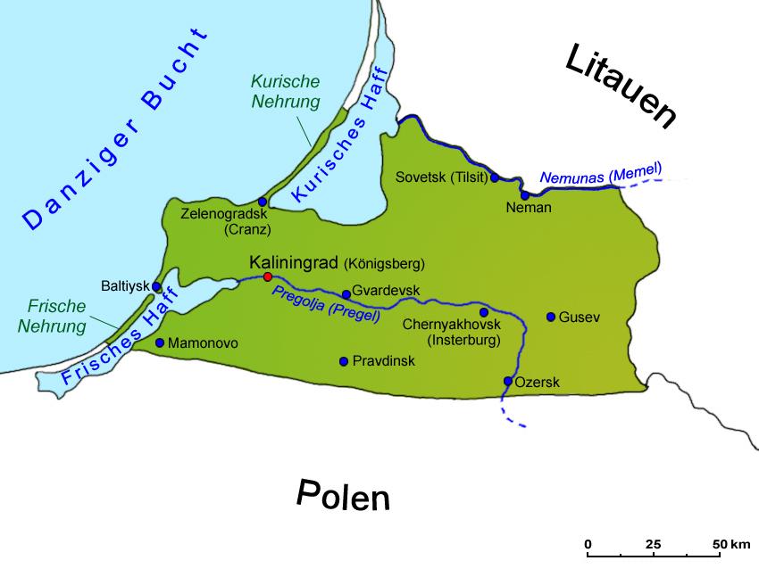Königsberg Kaliningrad Karte.Kaliningrader Gebiet Geografie Landkarte Länder Kaliningrader