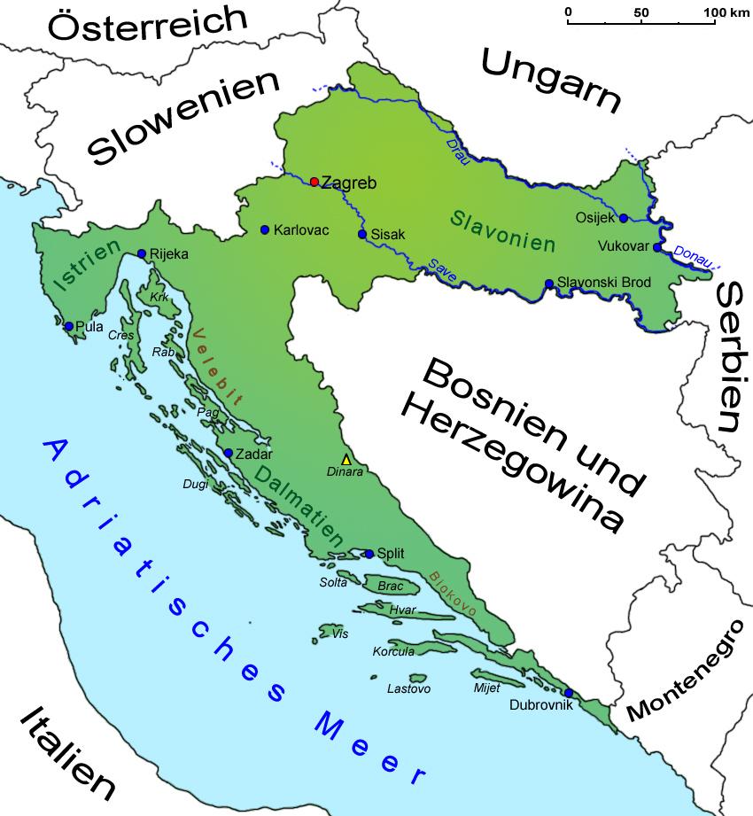 kroatien landkarte l nder kroatien goruma. Black Bedroom Furniture Sets. Home Design Ideas