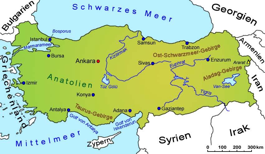 Karte Türkei.Türkei Geografie übersichtskarte Länder Türkei Goruma