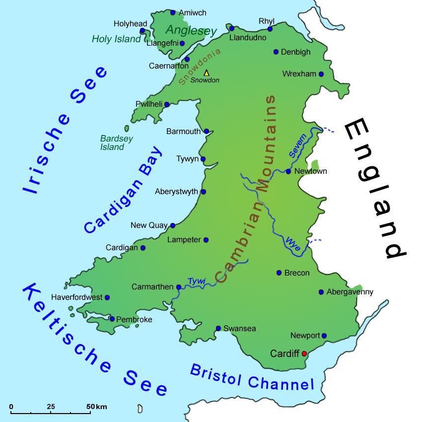 Ubersicht Von Wales Lander Wales Goruma