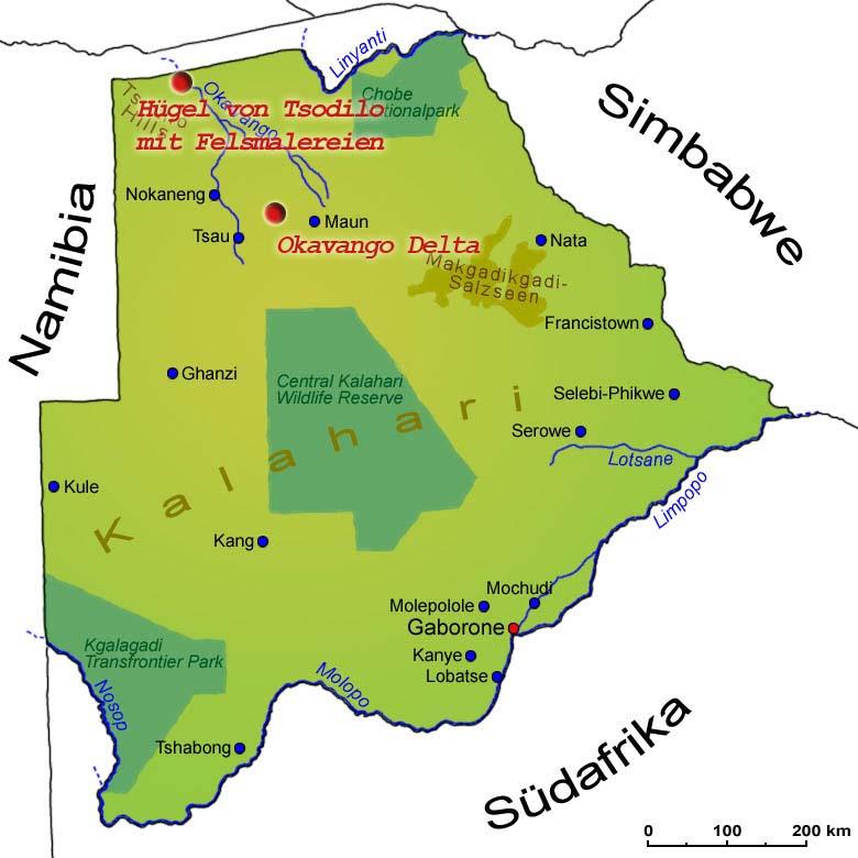 Südafrika Karte Sehenswürdigkeiten.Sehenswürdigkeiten Länder Botswana Goruma