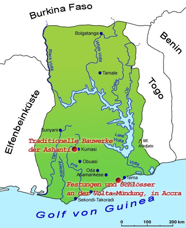 Ghana Karte.Ghana Sehenswurdigkeiten Lander Ghana Goruma