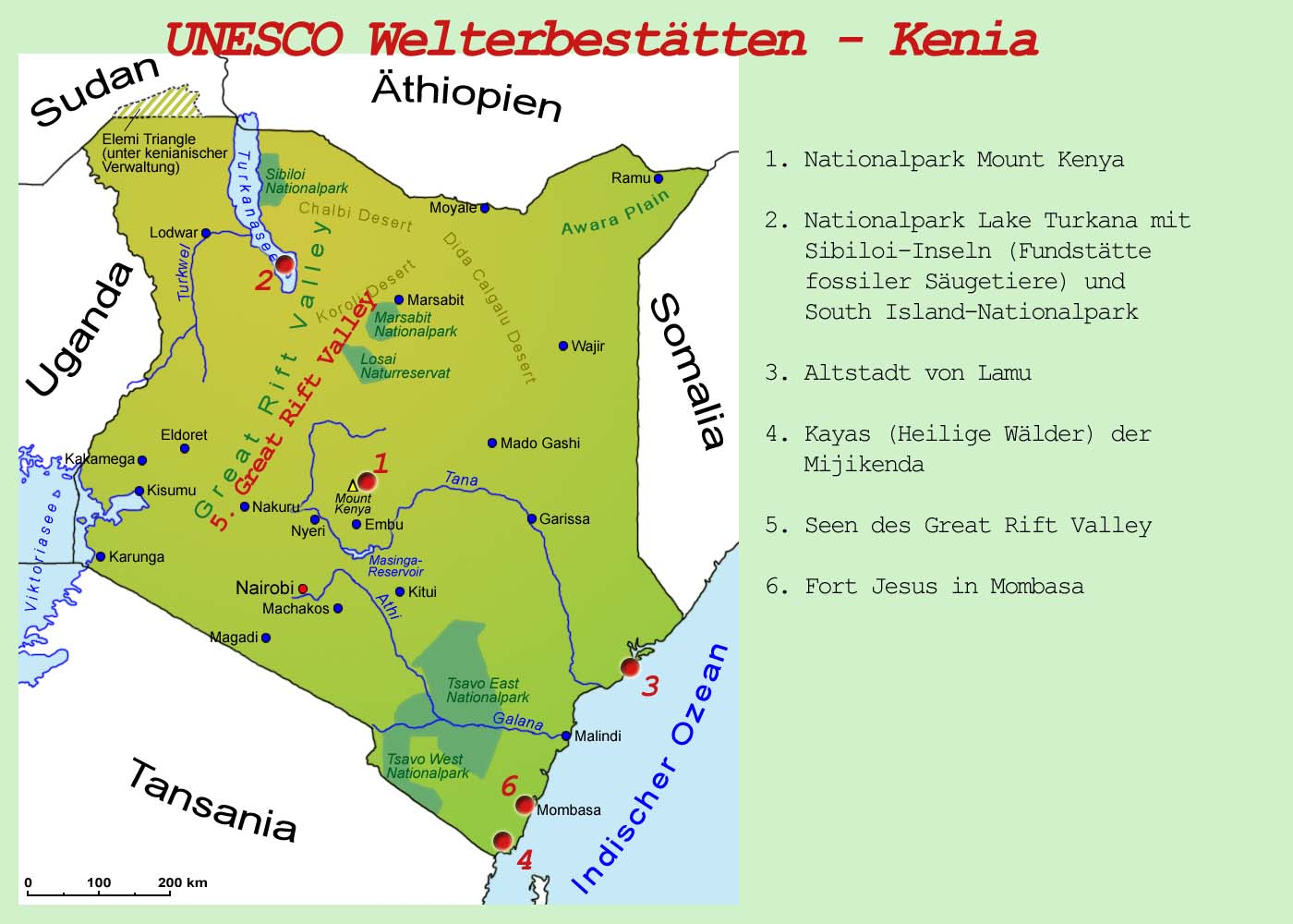 Mount Kenia Karte.Kenia Sehenswurdigkeiten Lander Kenia Goruma