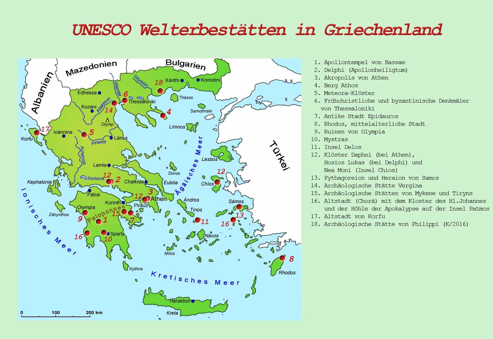 Meteora Klöster Karte.Griechenland Sehenswürdigkeiten Länder Griechenland Goruma