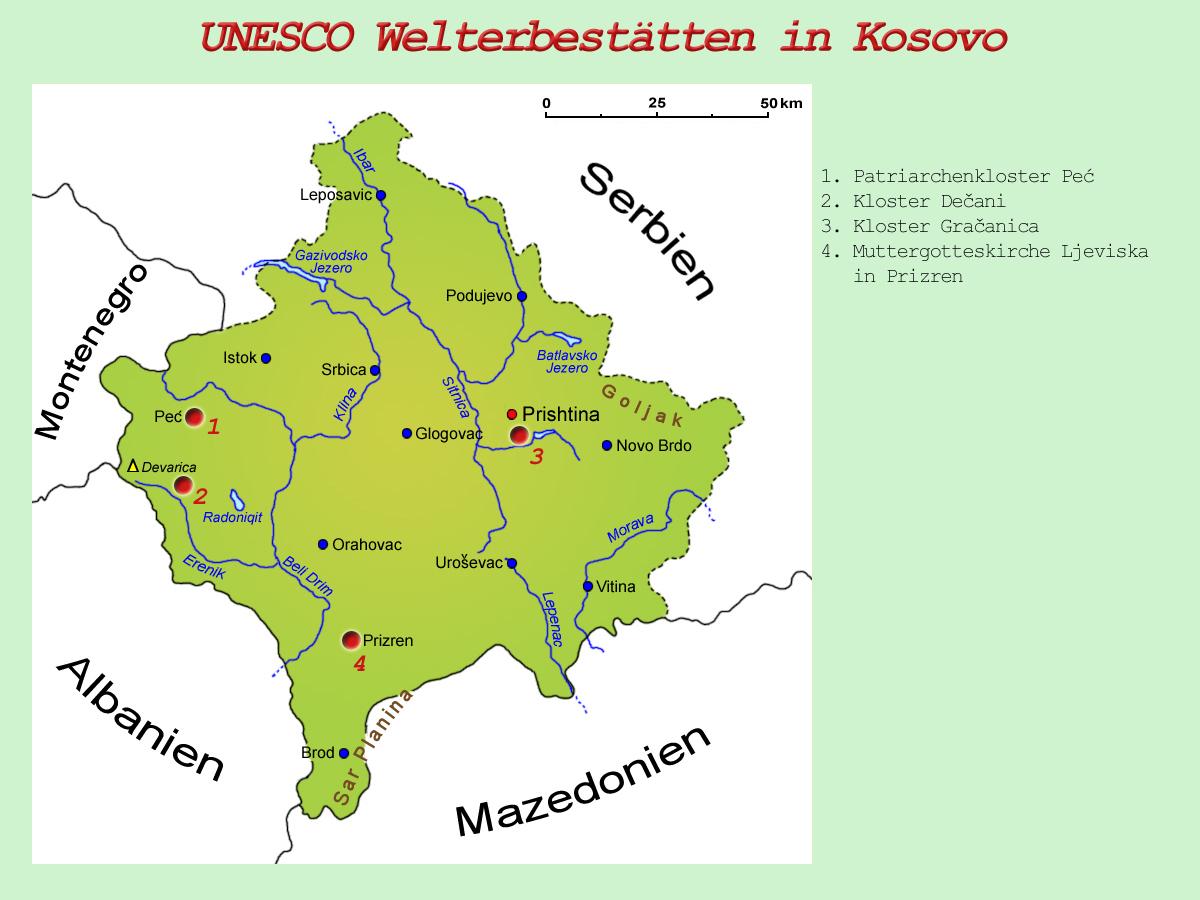 Peja Kosovo Karte.Sehenswürdigkeiten Länder Kosovo Goruma