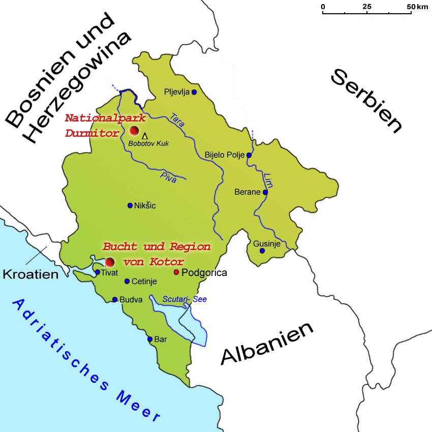 Bar Montenegro Karte.Sehenswurdigkeiten Lander Montenegro Goruma