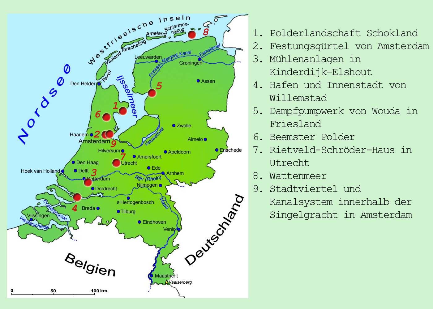 holland sehenswürdigkeiten karte Niederlande: Sehenswürdigkeiten | Länder | Niederlande | Goruma