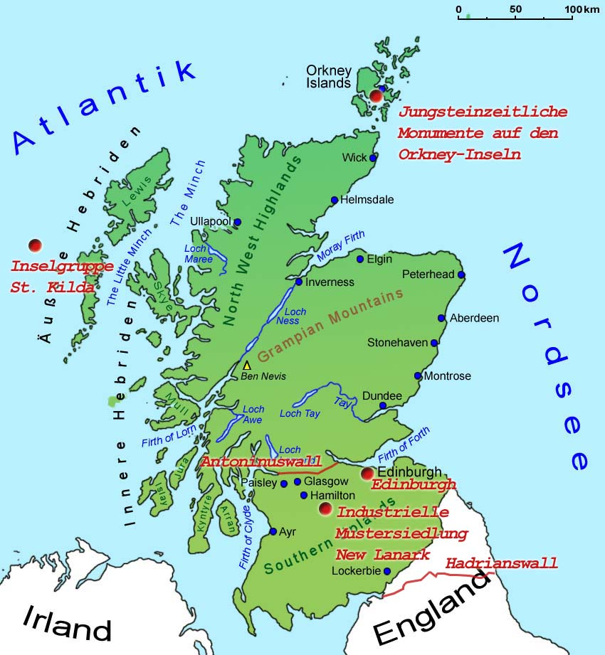Orkney Touring Sites