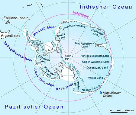 Antarktis Landkarte Und Pole Lander Antarktis Goruma