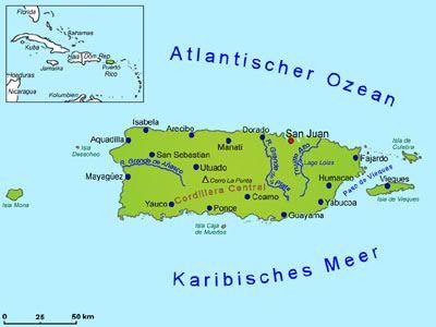 Puerto Rico Landkarte Lander Puerto Rico Goruma