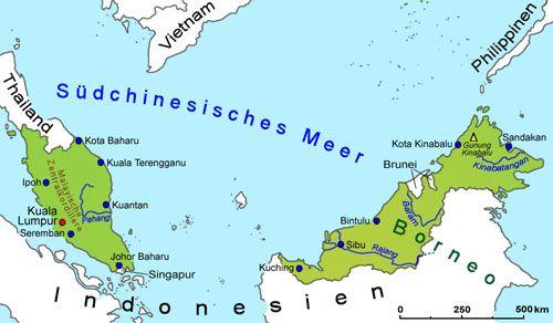 Malaysia Geografie Und Landkarte Lander Malaysia Goruma