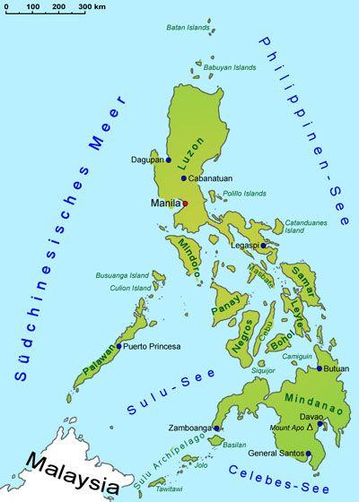 Philippinen Geografie Landkarte Lander Philippinen Goruma