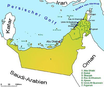 Vereinigte Arabische Emirate Landkarte Lander Vereinigte Arabische Emirate Goruma