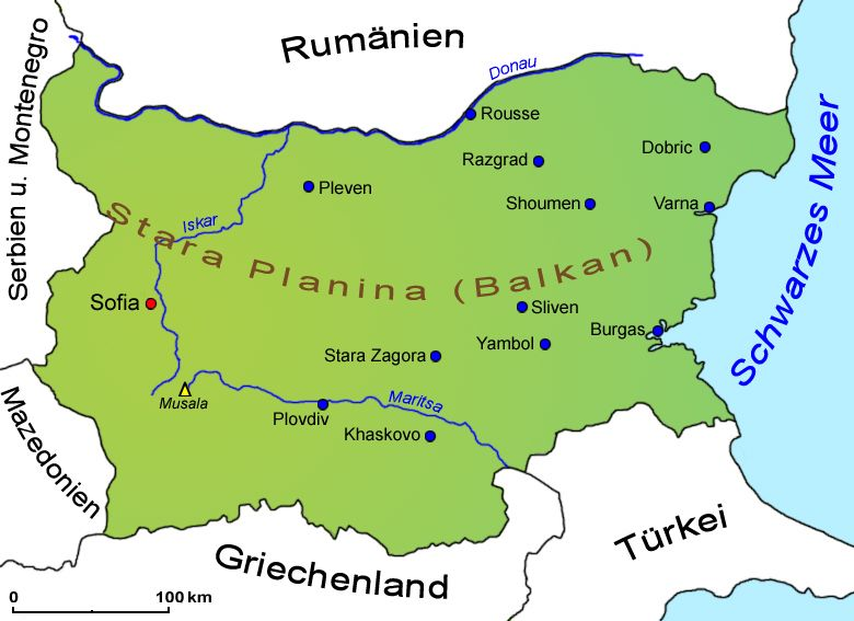 Bulgarien Geografie Landkarte Lander Bulgarien Goruma