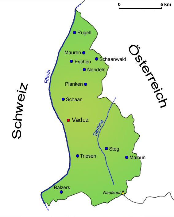 Fläche Liechtenstein