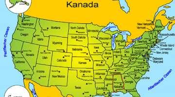 Usa Staaten Karte Mit Hauptstädten.Sehenswürdigkeiten In Den Usa Goruma